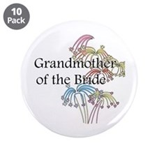 "Fireworks Grandmother of the Bride 3.5"" Button (10"