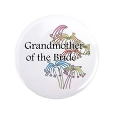 "Fireworks Grandmother of the Bride 3.5"" Button"