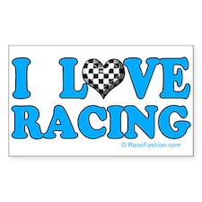 Love Racing 5 Rectangle Decal