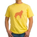 Pink Belgian Sheepdog Yellow T-Shirt