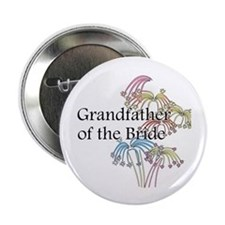 """Fireworks Grandfather of the Bride 2.25"""" Button (1"""