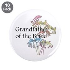 "Fireworks Grandfather of the Bride 3.5"" Button (10"