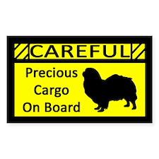 Precious Cargo Tibetan Spaniel Sticker (Rect)
