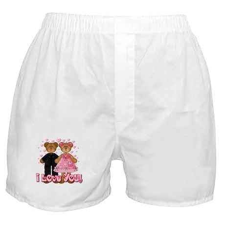 I Love You Teddy Bears Boxer Shorts