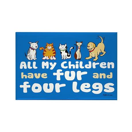 All My Fur Children Rectangle Magnet (10 pack)