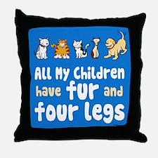 All My Fur Children Throw Pillow