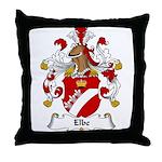 Elbe Family Crest Throw Pillow