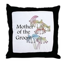 Fireworks Mother of the Groom Throw Pillow