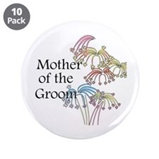 """Fireworks Mother of the Groom 3.5"""" Button (10 pack"""