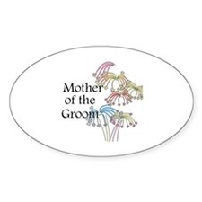 Fireworks Mother of the Groom Oval Decal