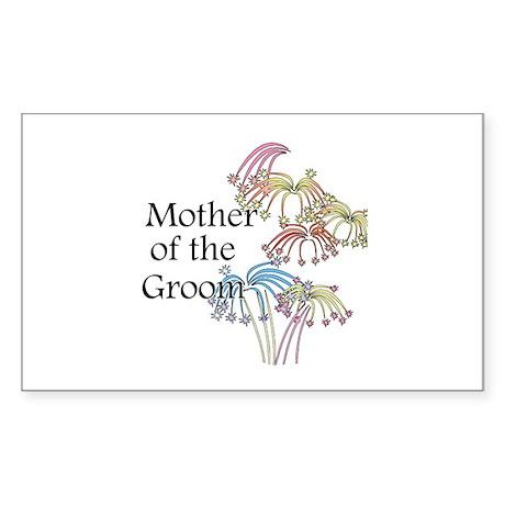 Fireworks Mother of the Groom Sticker (Rectangular