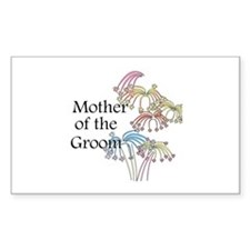 Fireworks Mother of the Groom Sticker (Rectangular