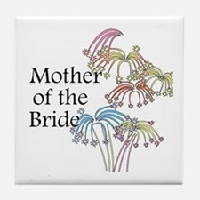 Fireworks Mother of the Bride Tile Coaster