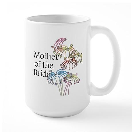 Fireworks Mother of the Bride Large Mug