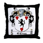 O'Crean Family Crest Throw Pillow