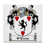 O'Crean Family Crest Tile Coaster