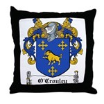 O'Crouley Family Crest Throw Pillow
