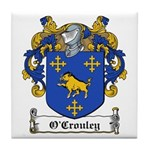 O'Crouley Family Crest Tile Coaster