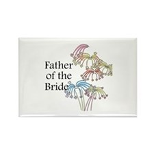 Fireworks Father of the Bride Rectangle Magnet