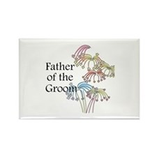 Fireworks Father of the Groom Rectangle Magnet