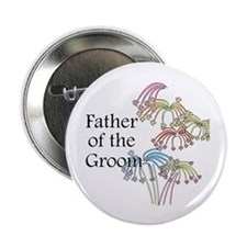 "Fireworks Father of the Groom 2.25"" Button"