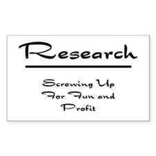 Research Humor Decal