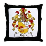Ehlers Family Crest Throw Pillow