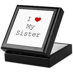I Heart My Sister Keepsake Box