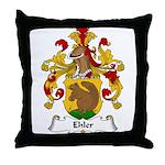 Ehler Family Crest Throw Pillow