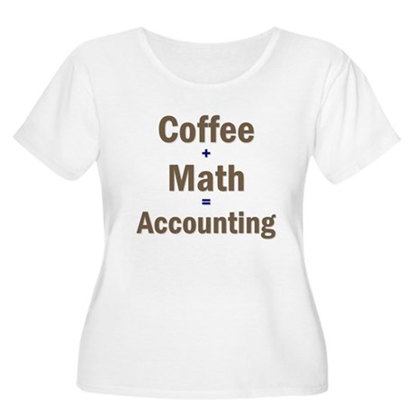 Coffee + Math = Accounting Women's Plus Size Scoop