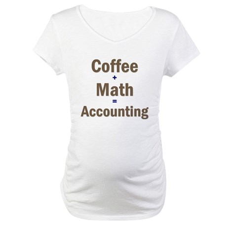 Coffee + Math = Accounting Maternity T-Shirt
