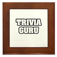 """""""Trivia Guru"""" Framed Tile"""