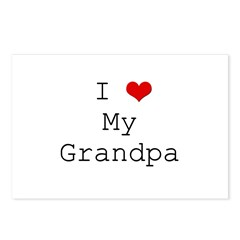 I Heart My Grandpa Postcards (Package of 8)