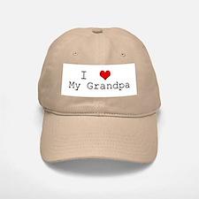 I Heart My Grandpa Baseball Baseball Cap