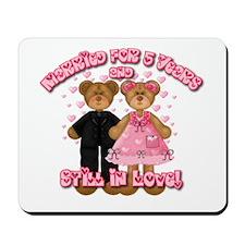 5th Anniversay Teddy Bears Mousepad