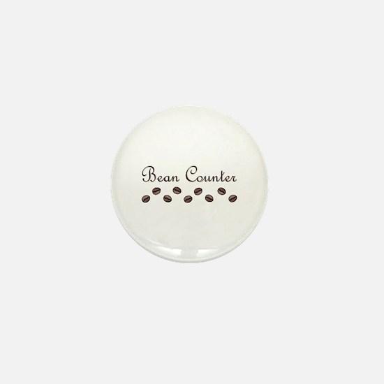Bean Counter Coffee Beans Mini Button