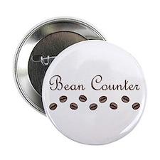 """Bean Counter Coffee Beans 2.25"""" Button"""