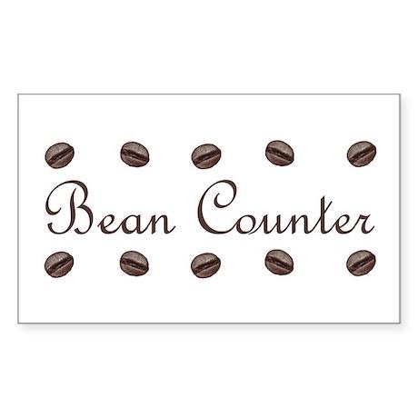 Bean Counter Coffee Beans Rectangle Sticker