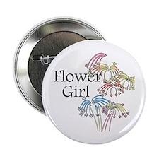 "Fireworks Flower Girl 2.25"" Button"