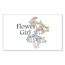 Fireworks Flower Girl Rectangle Decal
