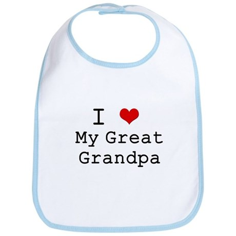 I Heart My Great Grandpa Bib