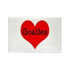 Luv Goalies Rectangle Magnet