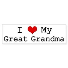 I Heart My Great Grandma Bumper Bumper Sticker