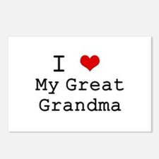 I Heart My Great Grandma Postcards (Package of 8)