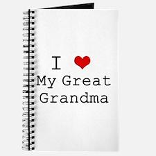 I Heart My Great Grandma Journal