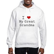 I Heart My Great Grandma Hoodie