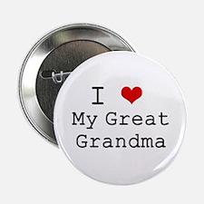"I Heart My Great Grandma 2.25"" Button"