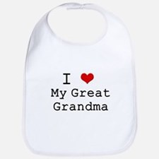 I Heart My Great Grandma Bib