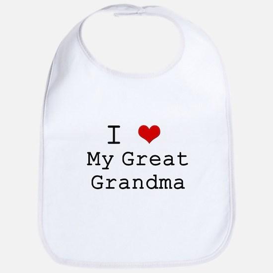 I Heart My Great Grandma Bib