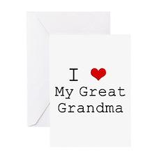 I Heart My Great Grandma Greeting Card